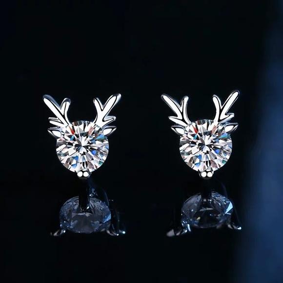 pt950 0.6ctw moissanite Diamond earrings